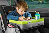 kids travel lap tray - Kids Travel Tray - Soft and Sturdy Portable Lap Activity and Snack Desk for Cars, Planes and Strollers - Extra Deep Cup Holder, Reinforced Lip - Carry as Backpack or Messenger Bag - by Maygree