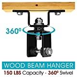 Yes4All Premium Wood Beam Heavy Bag Hanger to Mount Punching Bag – 360 Degree Swivel and Easy to Install