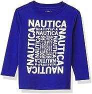 Nautica Playera de Manga Larga para niño Camiseta para Niños