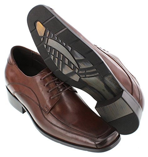 G-CALTO 60702-7,11 (2,8)-Tappetto cm, altezza aumentare ascensore Cordovan scarpe, colore: marrone scuro