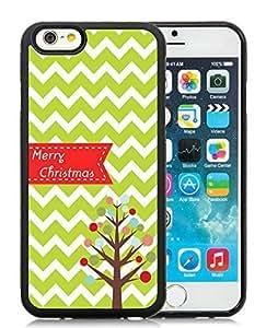 2014 New Style iPhone 6 Case,Chevron Christmas Tree Black iPhone 6 4.7 Inch TPU Case 1