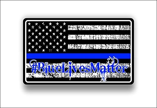 bluelivesmatter Subdued American flag officers