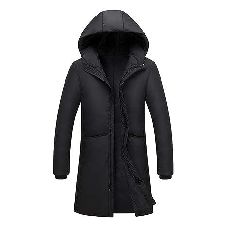 Piumino Da Uomo Invernale Lungo Cappotto Caldo In Cotone Impermeabile  Grande Con Cappuccio b28de801d6f