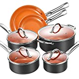 Cookware Set, Aicook Non Stick Cookware Set 10pcs, Induction Cookware, Copper Pan, Dishwasher and Oven Safe Cookware Set Review