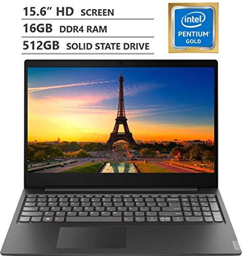 2019 Newest Lenovo Ideapad S145 15.6″ HD LED-backlit Widescreen Laptop, Intel Pentium Gold 5405U 2.30GHz Processor, 16GB RAM, 512GB Solid State Drive, Wireless-AC, Bluetooth, Windows 10, Granite Black