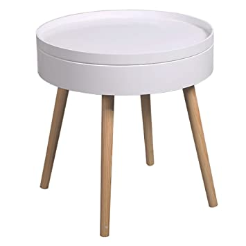 Coffee Tables Small Round Corner Storage Table
