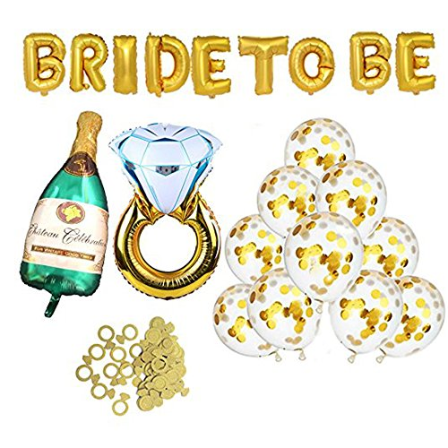 Urbanviva Bachelorette Party Decorations Kit Bridal Shower Supplies with Bride to Be Sash, Banners, Balloons