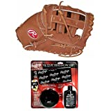 Rawlings 12.25'' Heart of the Hide First Base Mitt and Break In Kit (Right Hand Throw)