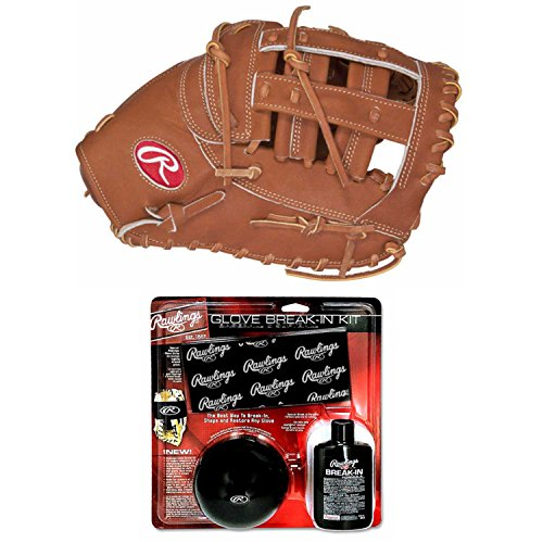 Rawlings 12.25'' Heart of the Hide First Base Mitt and Break In Kit (Right Hand Throw) by Rawlings