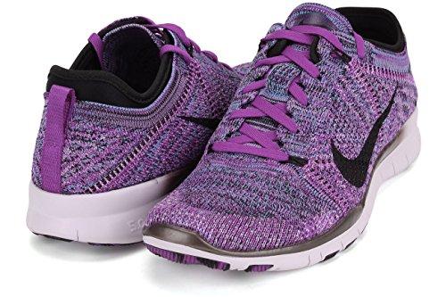Nike Free Tr Flyknit - Zapatillas de running Mujer PRPL/BLK-FCHS GLW-LGHT VLT