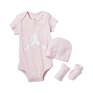 ffde027505bf Jordan Infant Jumpman 3 Piece Set (Arctic Pink(LJ0041-A31) White