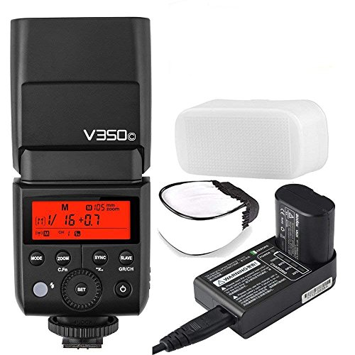 Godox V350 Series TTL 2.4G Li-ion Camera Flash with Built-in Rechargeable Battery for Canon/Nikon/Sony/Olympus /Fujifilm (V350-C for Canon)