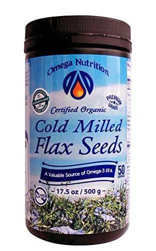 Omega Nutrition Cold Milled Flax Seeds, 17.5-Ounces
