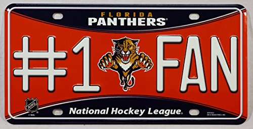 NHL Florida Panthers #1 Fan Metal License Plate Tag