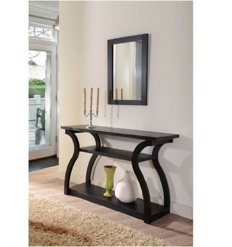 Furniture of America Sara Black Finish Console Table