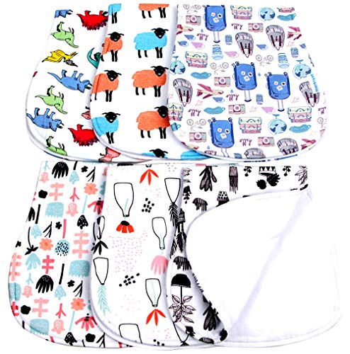 (Baby Burp Cloths Boys Girls Unisex Soft Absorbent Baby Burping Rags)
