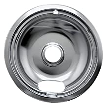 "1 - Universal Chrome Drip Pan, Style A (8""), 8"" single pack, Fits all ranges with plug-in elements except GE(R), Hotpoint(R) & Kenmore(R), 102-AM by Range Kleen"