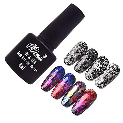 8ml Nail Art Glue Gel Galaxy Star Adhesive for Foil Sticker Transfer Tips Manicure DIY