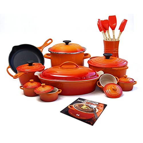 Le Creuset MM14AM24-2 24-Piece Cookware Set, Flame