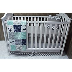 Baby Boy Crib Bedding , Nautical , Sea , Anchor, Crib Bedding , Nursery Room , Babylooms