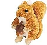 Wild Republic Audubon Squirrel Plush Authentic Squirrel Sound, Stuffed Animal, Squirrel Toys, Gifts for Kids 5 Inches