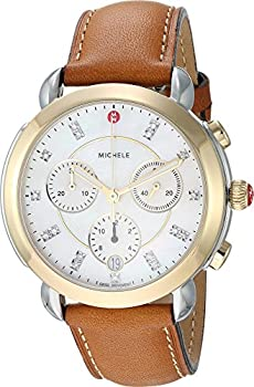 Michele Sidney Two-Tone Women's Diamond Dial Watch