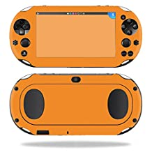 MightySkins Protective Vinyl Skin Decal for Sony PS Vita (Wi-Fi 2nd Gen) wrap cover sticker skins Solid Orange