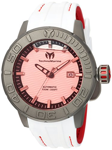 (Technomarine Men's Reef Titanium Automatic-self-Wind Watch with Silicone Strap, Two Tone, 24 (Model: TM-516007))