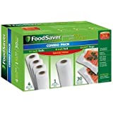 """FoodSaver Special Value Vacuum Seal Combo Pack 1-8""""Roll; 4-11""""Rolls; 36 Pre-Cut Bags"""