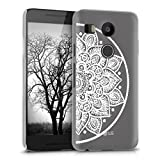 kwmobile Elegant and light weight Crystal Case Design Indian half-flower for LG Google Nexus 5X in white transparent