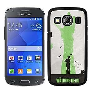 Funda carcasa para Samsung Galaxy Ace 4 diseño the walking dead 2 borde negro