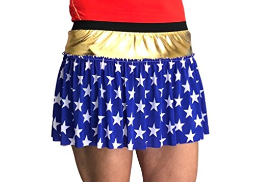 Superhero Star-Print Running Skirt -