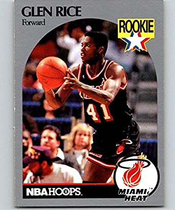 Amazon.com  1990-91 Hoops  168 Glen Rice RC Rookie Heat NBA ... 10614e1d6