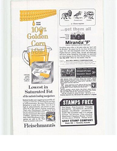 1965 Vintage Magazine Advertisement Golden Corn Oil Fleischmann's Margarine - Margarine Fleischmanns