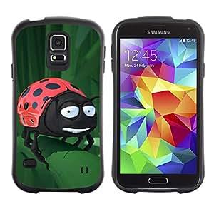 """Hypernova Slim Fit Dual Barniz Protector Caso Case Funda Para Samsung Galaxy S5 [Divertido Mariquita En La Hoja""""]"""