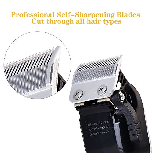 Professional Cordless Electric Hair Clippers Beard Trimmer Rechargeable Hair Cutting Kit for Men Women Kids Baby, Barber Grooming Cutter Kit with Guide Combs