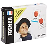 FRENCH FLASHCARDS SET FOR BABIES and TODDLERS: Bilingual Baby Learn French Flash Cards by Small Fry Beginnings