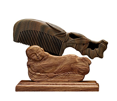 ICEGREY Sandalwood Wooden Comb Anti-Hair Loss Rake Comb Handmade Carved Bamboo