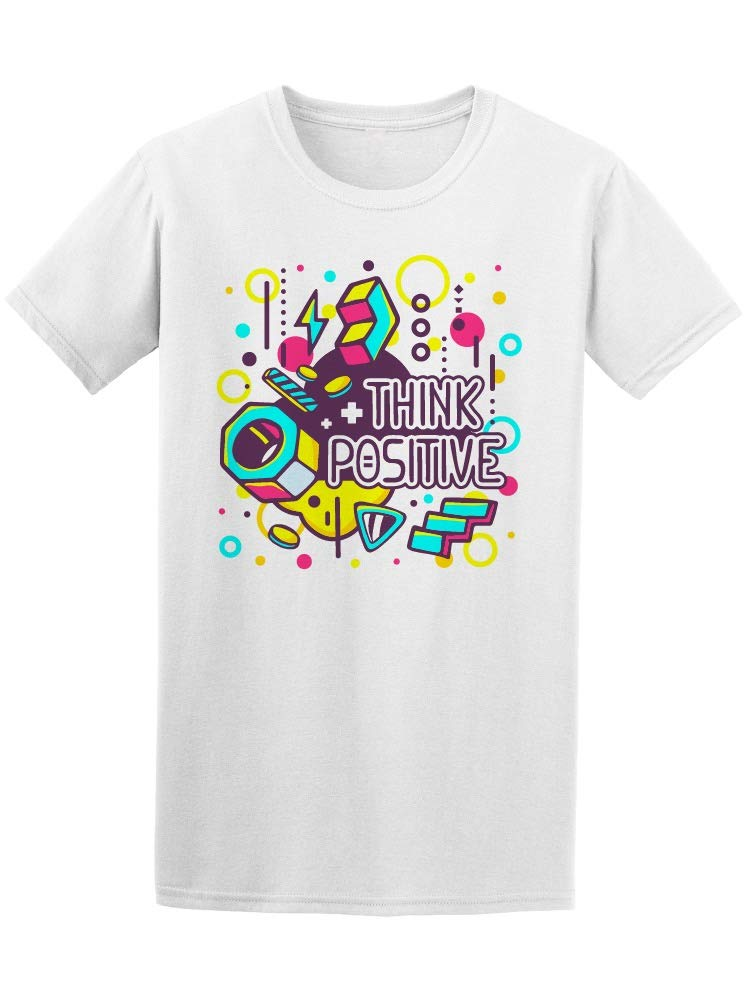 Amazon Colorful Think Positive Men s Tee Image by
