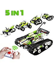 5 in 1 Remote Control STEM Building Blocks Car Tank - 400+ PCS RC Car Kit - Kids Toys Age 6-12 - Perfect Educational Toy Gift for Kids