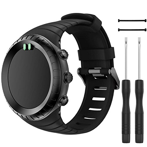 QGHXO Breathable Band for Suunto Core, Fits 5.5-9.1 (140mm-230mm) Wrist