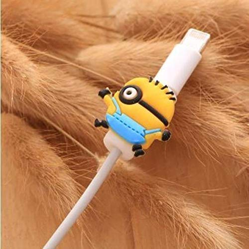 (Trend68 iPhone, Android Cable Protector, Charger Saver Cute Minion Cable)