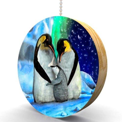 Penguin Aurora Hardwood Oak Fan/Light Pull