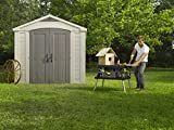Keter Factor 8x8 Foot Large Resin Outdoor Shed with