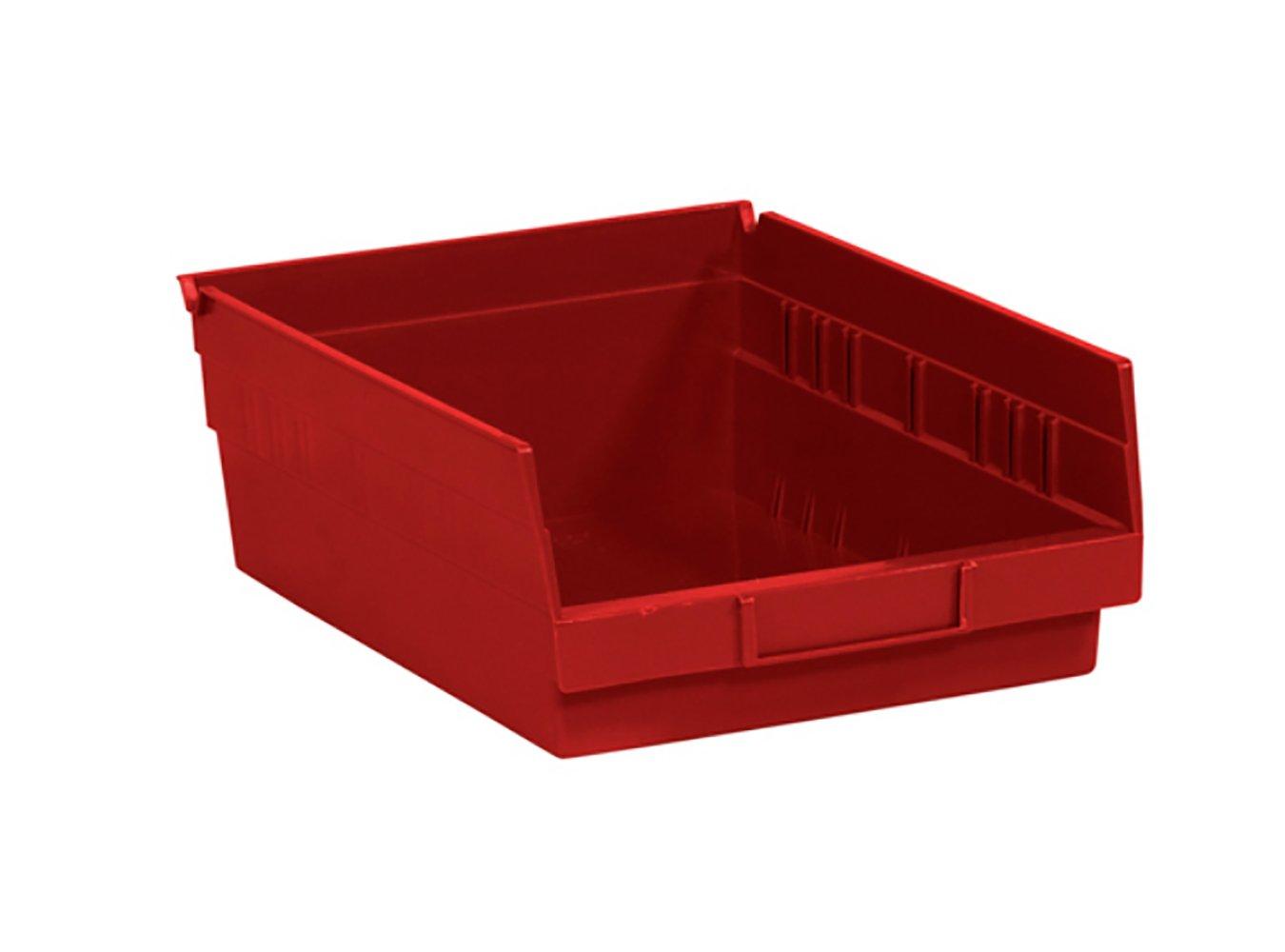 RetailSource Ltd BINPS104R RetailSource 11 5//8 x 8 3//8 x 4 Red Plastic Shelf Bin Boxes Pack of 20