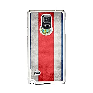 Insomniac Arts - Flag of Costa Rica, Costa Rican - Case for Samsung Galaxy Note 4 - White Plastic