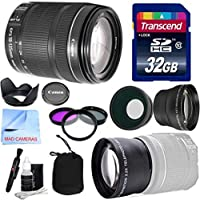 Canon Lens Kit With Canon EF-S 18-135mm f/3.5-5.6 IS STM Lens Standard Zoom Lens (67mm Thread) + Wide & Telephoto Auxiliary Lenses + 3 Piece Filter Kit + 32 GB Transcend SD Card-for Canon DSLR Cameras Advantages Review Image