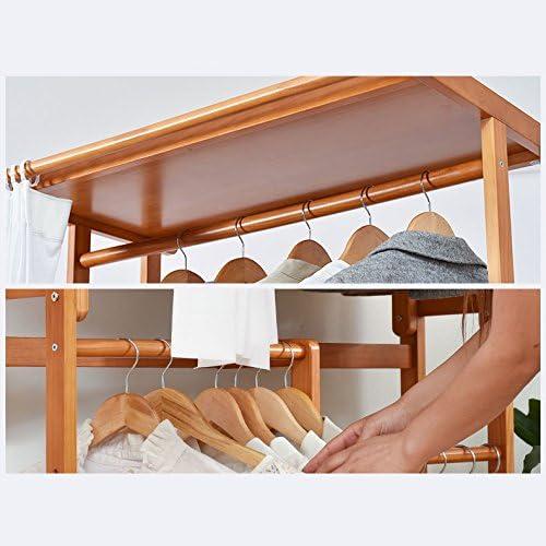 Perchero y zapatero de madera multiusos MIRUKU, estante para ropa ...