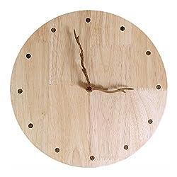 Y-Hui Wooden Watch Room Wood Mahogany Clock Hands Mute Diy Clock, Size: 12 Inches, 14 Inches, 16 Inches.,12 Inches,Branch Pointer