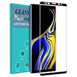 TAURI Compatible for Samsung Galaxy Note 9 Screen Protector, [Full Cover] Tempered Glass Screen Protector with Lifetime Replacement Warranty - Black